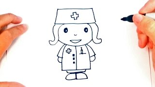 How to draw a Nurse | Nurse Easy Draw Tutorial