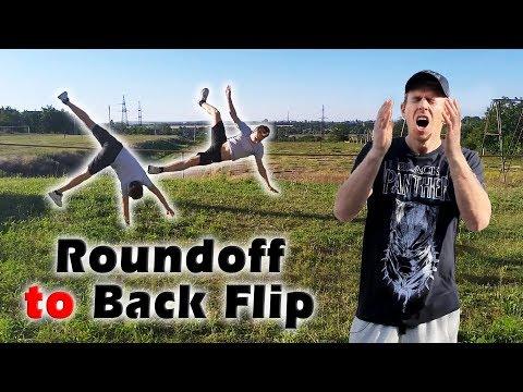 """Как научиться """"Рондат в Заднее сальто"""" за одну тренировку (Roundoff To Back Flip Tutorial)"""