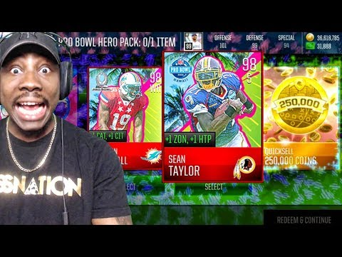 SIX 98 OVR PRO BOWL HEROES IN PACK OPENING! Madden Mobile 18 Gameplay Ep. 28