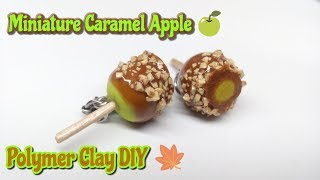 Miniature Candy Apple Tutorial : DIY Charms : Polymer Clay Crafts : Food Charms : by Andisa Charms