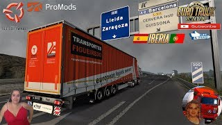 Euro Truck Simulator 2 (1.37)   Skinpack for Fliegl SDS350 Mega by TheNuvolari and Obelihnio v1.0 Renault Range T by SCS software Delivery to Spain Iberia DLC Promods v2.46 FMOD ON and Open Windows Naturalux Graphics and Weather Spring Graphics/Weather v3