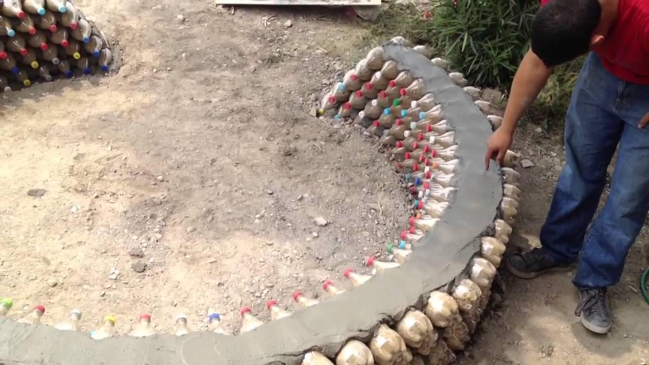 Banca hecha de botellas de pl stico itesm youtube for Banco de plastico para jardin