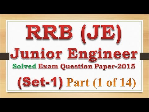 Rrb Junior Engineer Electrical Previous Question Papers Pdf