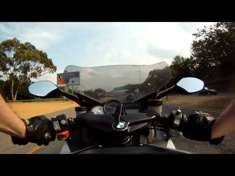 Tank Cam on BMW K1200S, Sandton & Johannesburg Northern Suburbs Tour