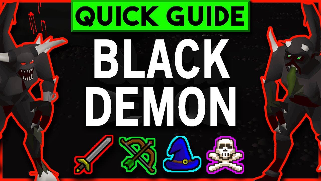 OSRS Black Demon Slayer Guide 2007 - Melee/Range/Magic + Cannon &  Wilderness / Safe Spots (Jul 2019)