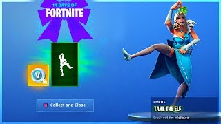 How To Get TAKE THE ELF EMOTE and CHALLENGE GUIDE in 14 Days Of Fortnite!