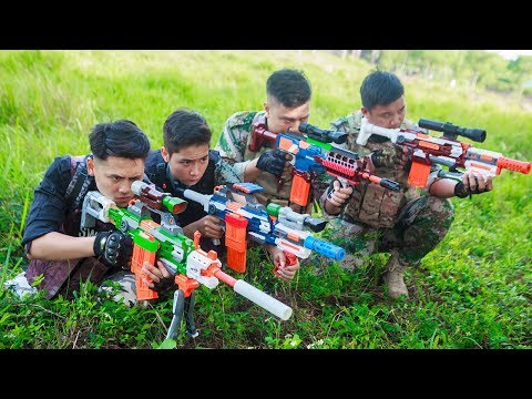 LTT Nerf War : Captain SEAL X Warriors Nerf Guns Attack Criminal Group Martial Arts Top