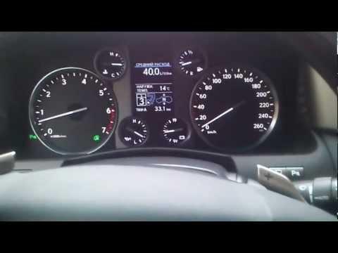 Расход бензина в пробке Lexus LX 570 2012