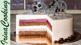 Муссовый кофейный торт Мокко с вишней | Mousse Coffee Cherry Cake