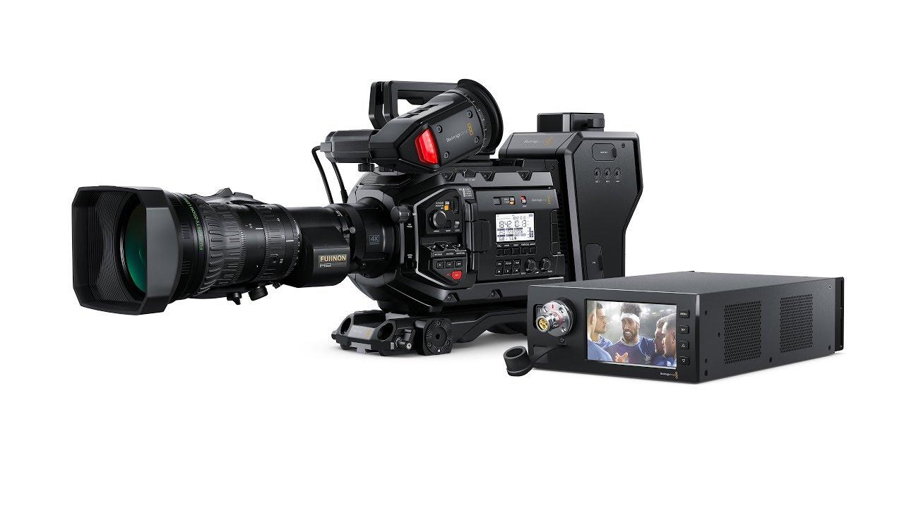 Blackmagic Design Ursa Broadcast And Fiber Converters Youtube