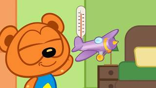 In a new cartoon from a cute family, children learn how to play and share toys 😊