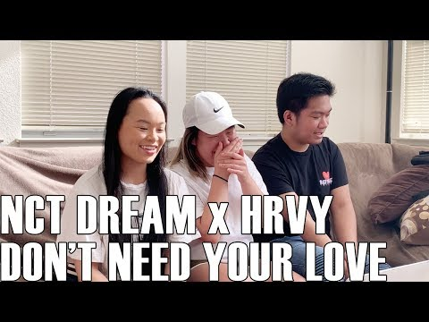 NCT Dream X HRVY - Don't Need Your Love (Reaction Video)