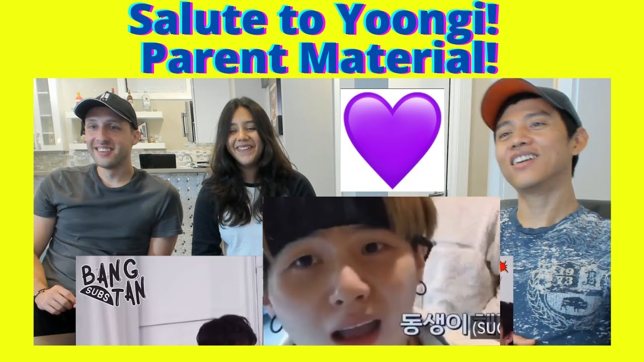 BTS - Yoongi being a single parent for bangtan | is this what we call a wifey material? | Reaction