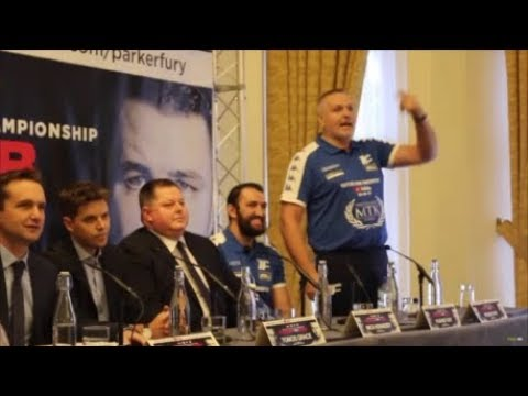 PETER FURY KICKS OFF IN A PRESS CONFERENCE WITH PROMOTER DAVID HIGGINS