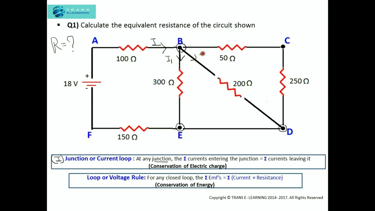 Solving Series And Parallel Circuits Wiring Diagram Ebooks Circuit Solver Kirchhoff S Laws How To Solve Problems Using Calculator Worksheet