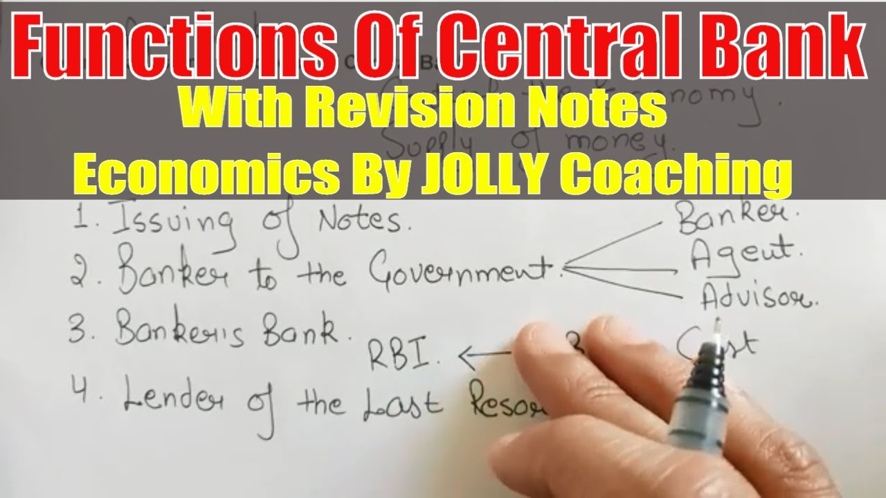 economics project on central bank of india and its functions