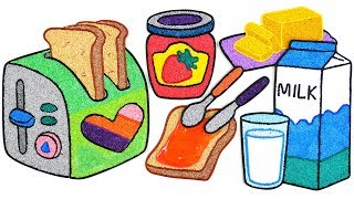 Coloring Toaster with Foam cla…