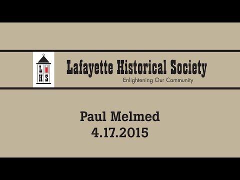 Paul Melmed -- April 17th