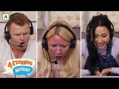 4-stjerners Middag   John Arne, Anne Brith og Linda Vidala prøver seg som sportskommentatorer