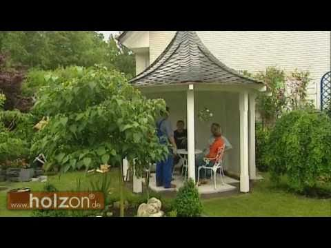 Pavillon selber bauen oder Holzpavillon  Gartenpavillon aufbauen lassen  holzon  Pavillons