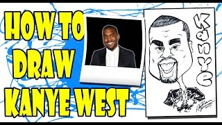 How to Draw A Quick Caricature - Kanye West