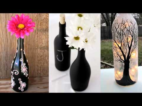 Upcycled diy glass bottle art home decor ideas painted black upcycled diy glass bottle art home decor ideas painted black bottle collection solutioingenieria Images