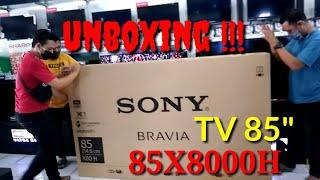 """UHD 4K SONY 85X8000H   TV 85"""" gedenya kebangetan !!!"""
