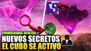 NEW SECRETS *CUBE IS ACTIVE* NEW COORDINATES (FILTRATED) *CAZA PARTY* FORTNITE BR