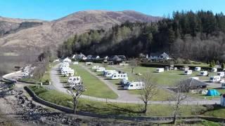 Invercoe Caravan Camping Site Glencoe Aerial