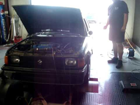 86 Shelby GLHS Omni on the dyno.