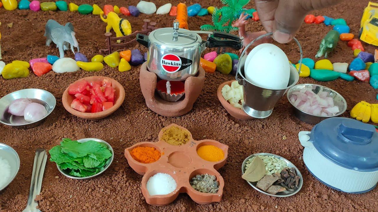 Miniature Egg Biryani   Biryani Recipe   Miniature Cooking   Tiny Cook  