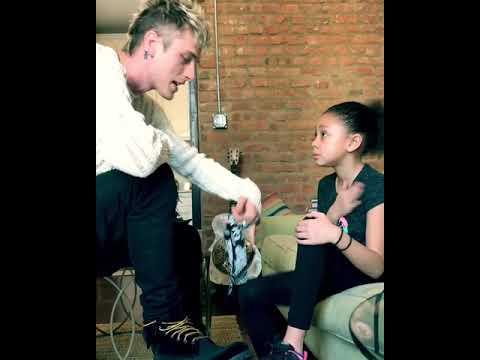 Machine gun kelly ( Habits 2018 ) teaching his daughter new video