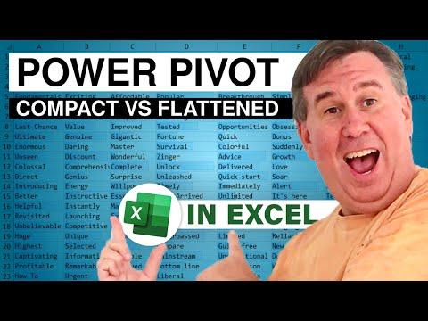 PowerPivot Data Analyst 7 - Compact Vs Flattened