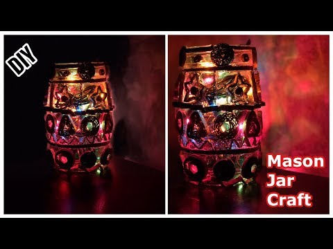 DIY Mason Jar Crafts | Upcycle your old jars into this beautiful light Craft