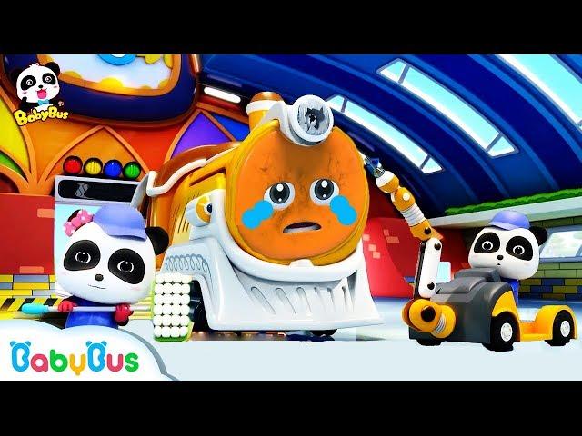 Super Train Got Injured | Super Panda Rescue Team | Monster Truck, Car Story | BabyBus Cartoon