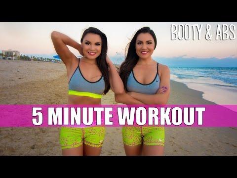5 Minute Workout at Santa Monica | Baker Twins