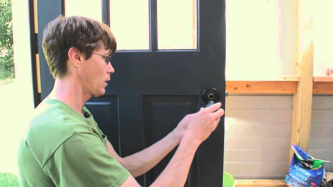 How To Install An Exterior Door Knob Youtube