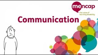 Communication: speaking to people with a learning disability