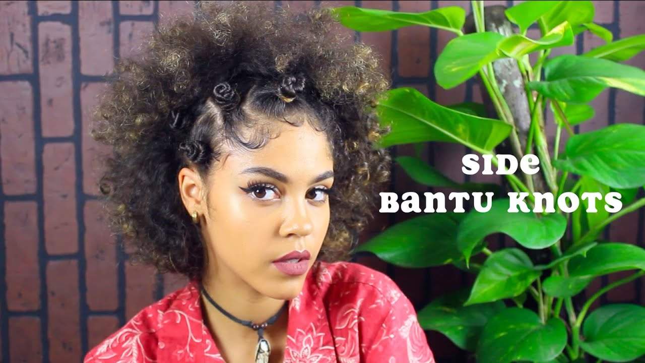 BANTU KNOTS HALF UP SIDE BANTU KNOT HAIRSTYLE YouTube