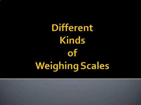 Types Of Weighing Scales