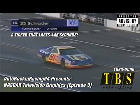 NASCAR Television Graphics (Episode 3): TBS Sports
