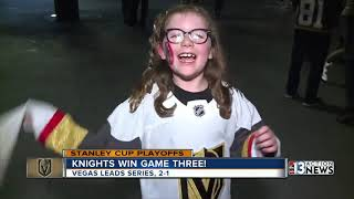 Vegas Golden Knights fans looking ahead to next game after Game 3 win