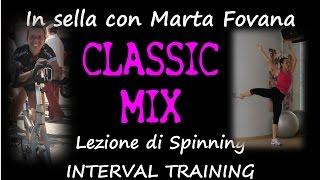 Lezione di spinning con Marta Fovana interval training classic mix