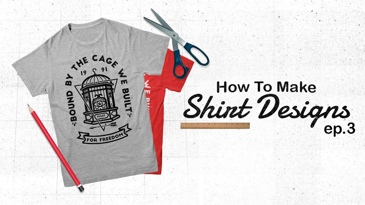 How to make shirt designs create your own vectors ep 3 for How to print your own shirt