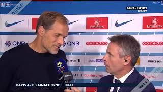 La réaction de Thomas Tuchel après PSG VS Saint Etienne 4-0