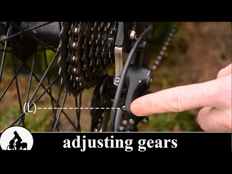 a touring bike is born: bicycle gear adjustment