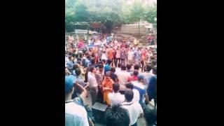 A rally of Anti Terrorist Protest, from Dhaka green road to karwan bazar  -P-8 [ City University ]