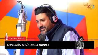 Leiva recibe en directo la noticia del #1 de SINCERICIDIO
