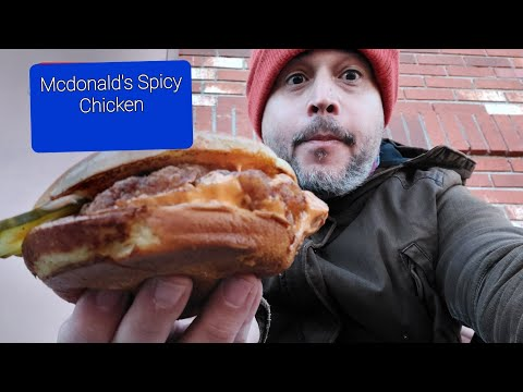 Mcdonald's Spicy Chicken Sandwich taste Test. Prueba del Sandwich picante de Macdonald's.G
