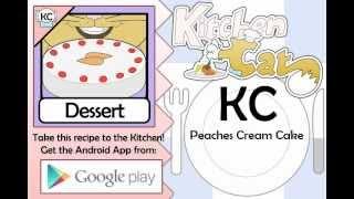 Peaches Cream Cake - Kitchen Cat